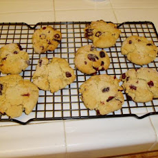 Macadamia Butter Cookies With Dried Cranberries