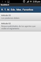 Screenshot of Reglamentos de tránsito