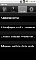 Screenshot of Mantras. Palabras de Poder