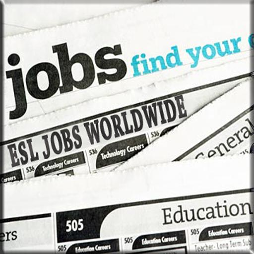 ESL Jobs Worldwide LOGO-APP點子