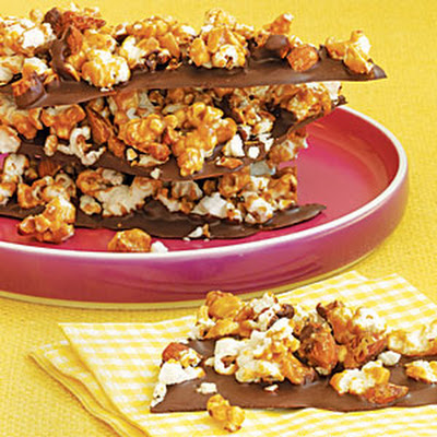 Chocolate-Popcorn Bark