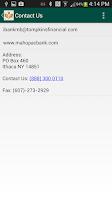 Screenshot of Mahopac Bank Mobile
