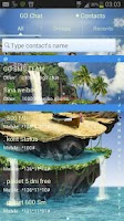 Screenshot of GO SMS Pro Theme tropical