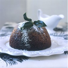 The 'How to Cheat' Christmas Pudding with Rum and Mascarpone Sauce
