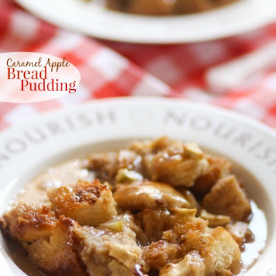 Caramel Apple Bread Pudding {Pampered Chef Giveaway}