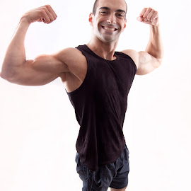 Bicepses by Николай Кръстев - Sports & Fitness Fitness ( fitness, gym, smile, health, dumbbells, biceps, man )