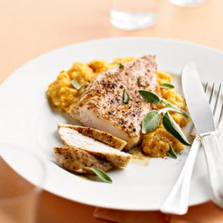 Cinnamon Roasted Chicken with Pumpkin-Sage Grits