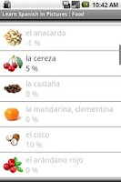 Screenshot of Spanish in Pictures : Food