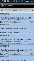Screenshot of BCU Mobile Banking