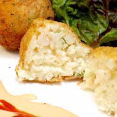 Deep Fried Prawn and Rice Croquettes