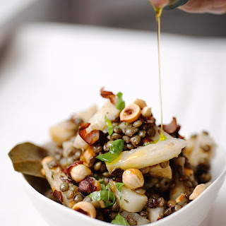 Celeriac And Lentils With Hazelnuts And Mint