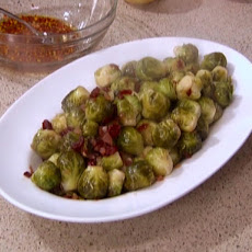 Caramelized Brussels Sprouts with Cranberries and Bacon