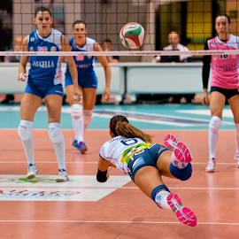 Volleyball by Luca Renoldi - Sports & Fitness Other Sports ( flying, girls, volleyball, pallavolo, volley, jump )