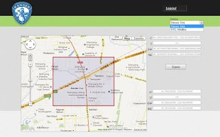Screenshot of Geofence