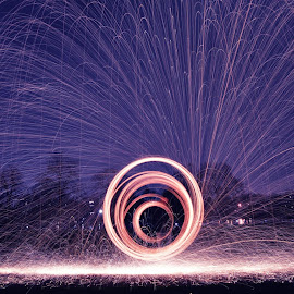 Steel Wool Photography by Storm Hayward - Abstract Light Painting ( steel wool, night, sparks, light, fire,  )
