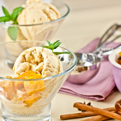 Spice Roasted Pineapple Ice Cream