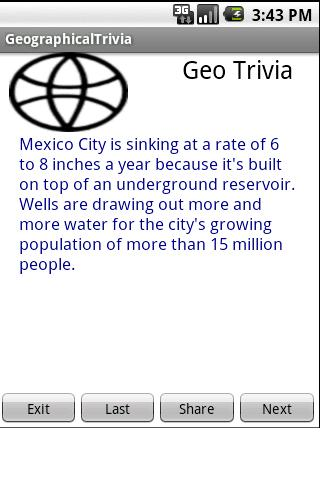 Geographical Trivia