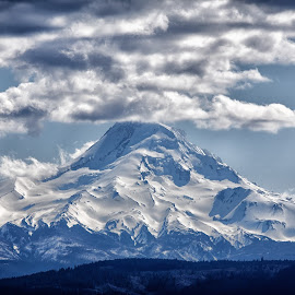 Mt Hood by Lee Gochenour - Landscapes Mountains & Hills ( oregon, columbia gorge, landscape )