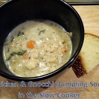 Slow Cooker Chicken & Gnocchi Soup