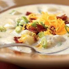 Cheddar Potato Soup with Bacon
