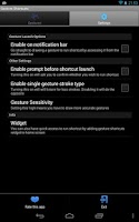 Screenshot of Gesture Shortcuts Launcher