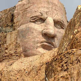 Crazy Horse by Leana Niemand - Artistic Objects Other Objects ( sculpture, mount rashmore, monument, usa, grazy horse )