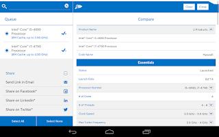 Screenshot of Intel® ARK (Product Specs)