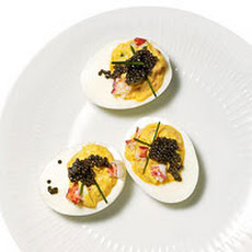 Lobster and Caviar Deviled Eggs