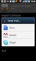 Screenshot of Contacts CSV Export Pro