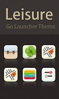 Screenshot of Leisure GO LAUNCHER THEME