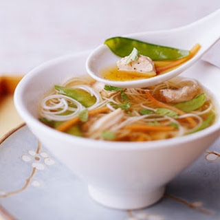 Soy-Ginger Soup with Chicken