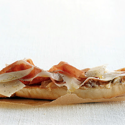 Ham, Manchego, and Fig Tartines