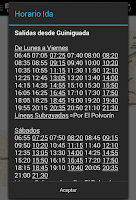 Screenshot of Schedule Guaguas(Buses) LPGC
