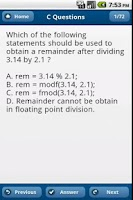 Screenshot of C,C++ Questions,Puzzles
