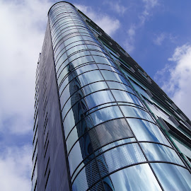 Blue tower 2 by Anita Berghoef - Buildings & Architecture Office Buildings & Hotels ( office, building, blue, architecture, looking up )