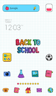 back to school dodol theme - screenshot