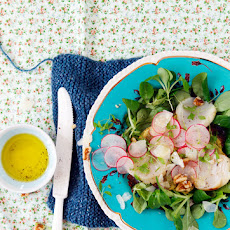 Mâche Salad with Potato Galettes and Scallops