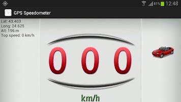 Screenshot of GPS Speedometer: white version