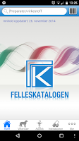 Screenshot of Felleskatalogen