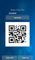 Screenshot of BBM Pin QR Generator Premium