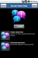 Screenshot of Social Interview