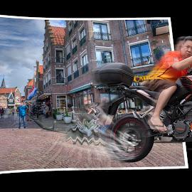 Fast and  furious by Peter Lee - Digital Art People ( bike, motorbike, motorcycle, fast, composite )