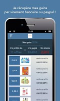 Screenshot of C-wallet, promotions gratuites