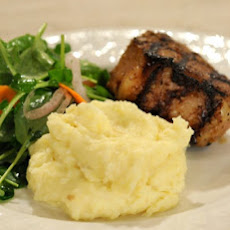 Lamb T-Bones with Watercress Salad and Potato-Fontina Fonduta