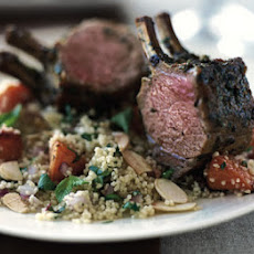 Roast rack of lamb with Moroccan spices