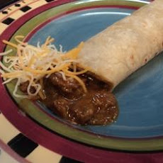 Leftover Steak Green Chili Burros Slow Cooker