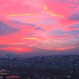Sunset over Paris by Žaklina Šupica - Novices Only Landscapes
