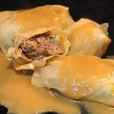 Lahanodolmathes (Greek Cabbage Rolls)