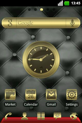 Gold and Leather GO EX Theme