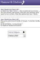 Screenshot of Humour, blagues et Citations